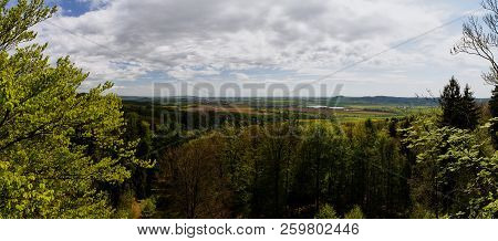 Panorama View From Rocks Called Prachovske Skaly