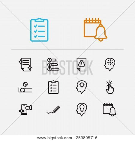 Task Icons Set. To-do List And Task Icons With Distractions, Just Do It And Priorities. Set Of Remin
