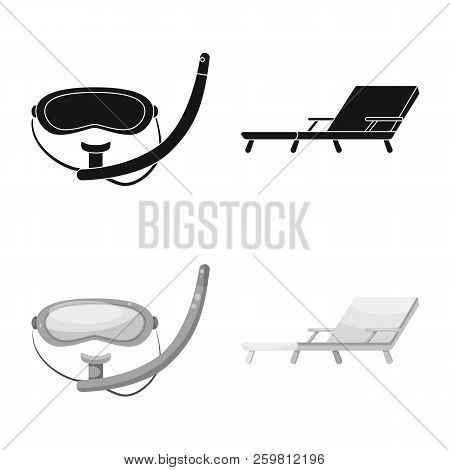 Vector Illustration Of Pool And Swimming Logo. Collection Of Pool And Activity Stock Symbol For Web.