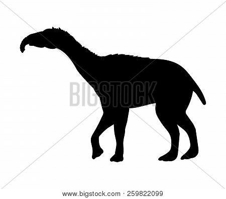 Litopterna Silhouette Extinct Mammalian Animal. Vector Illustration