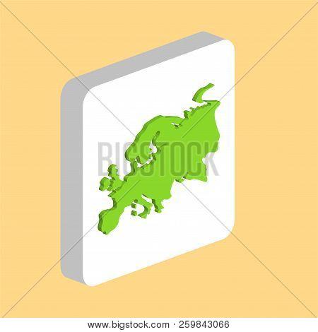 Eurasia Simple Vector Icon. Illustration Symbol Design Template For Web Mobile Ui Element. Perfect C