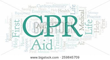 Cpr Word Cloud, Made With Text Only