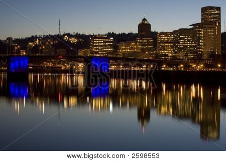Portland Oregon Morrison Bridge