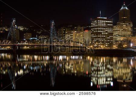 Hawthorne Bridge Downtown Portland Oregon