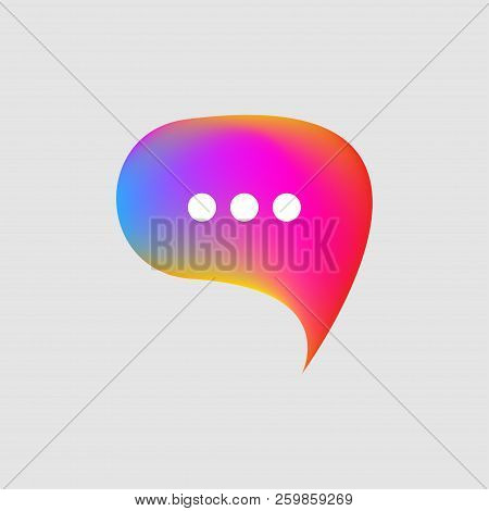 Icon Consultant, Color Gradient Bubble With Comment, Social Networks, Vector Logo Online Community
