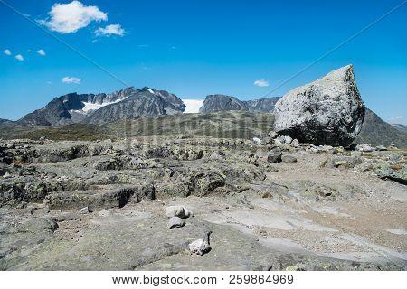 Rocks On Besseggen Ridge In Jotunheimen National Park, Norway