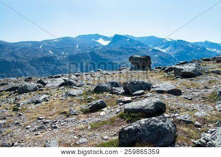 Besseggen Ridge With Mountains In Jotunheimen National Park, Norway