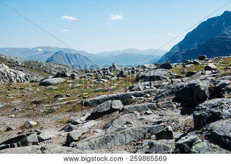 Beautiful Besseggen Ridge In Jotunheimen National Park, Norway