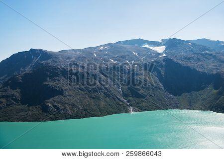 Besseggen Ridge Over Magnificent Gjende Lake In Jotunheimen National Park, Norway