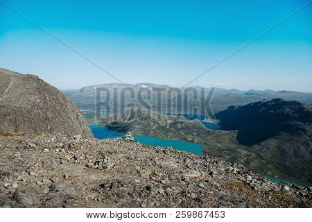 Beautiful Landscape With Gjende Lake, Besseggen Ridge, Jotunheimen National Park, Norway