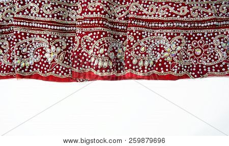 Bridal Sari. Indian Traditional Women's Sari Clothing. Wedding Sari