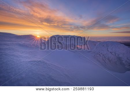 Sunrise From Mountain Ridge