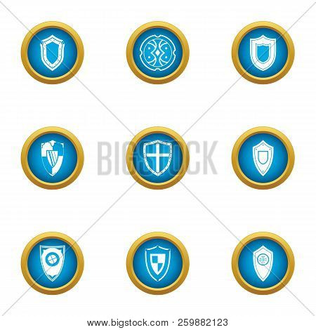 Stronghold Icons Set. Flat Set Of 9 Stronghold Vector Icons For Web Isolated On White Background