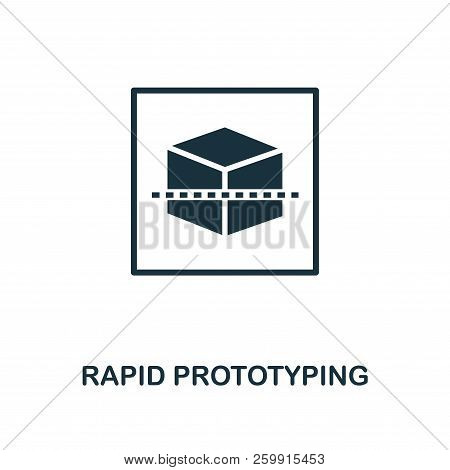 Rapid Prototyping Icon. Monochrome Style Design From Machine Learning Icon Collection. Ui And Ux. Pi