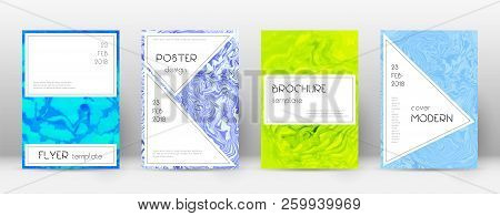 Abstract Cover. Valuable Design Template. Suminagashi Marble Stylish Poster. Valuable Trendy Abstrac