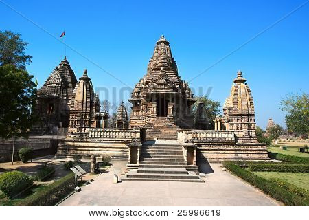 LakshmanaTemple,Western Group,  Khajuraho, Madhya Pradesh, India.