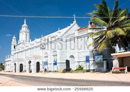 Catholic  Church in village near  Kanyakumari,Tamil Nadu,  Southern India poster