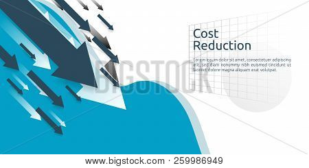 business finance crisis concept. money fall down symbol. arrow decrease economy stretching rising drop. lost crisis bankrupt declining. cost reduction. loss of income. vector illustration poster