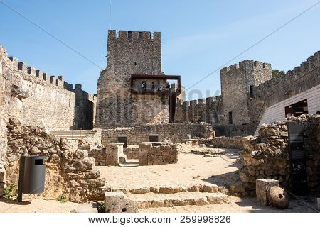 Pombal, Portugal - September 22, 2018 : Interior Of The Pombal Castle Leiria District, Portugal