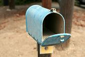an old us postal mail box outdoors poster