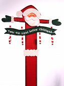 wooden tole painted santa claus poster