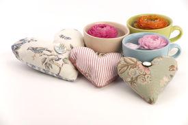 Blume-Cups und Liebe Herzen...