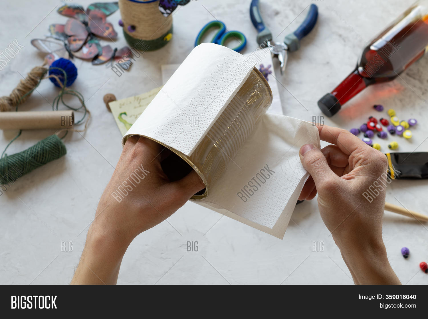 Decorating Tin Cans Image Photo Free Trial Bigstock