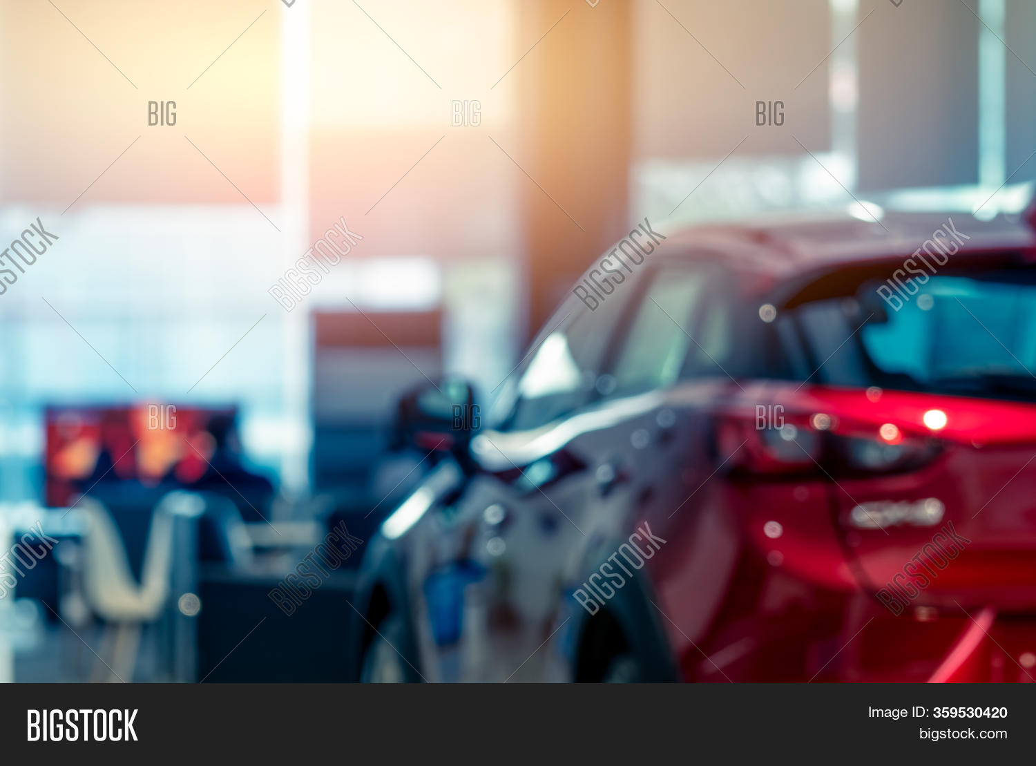 Blurred Rear View Red Image Photo Free Trial Bigstock