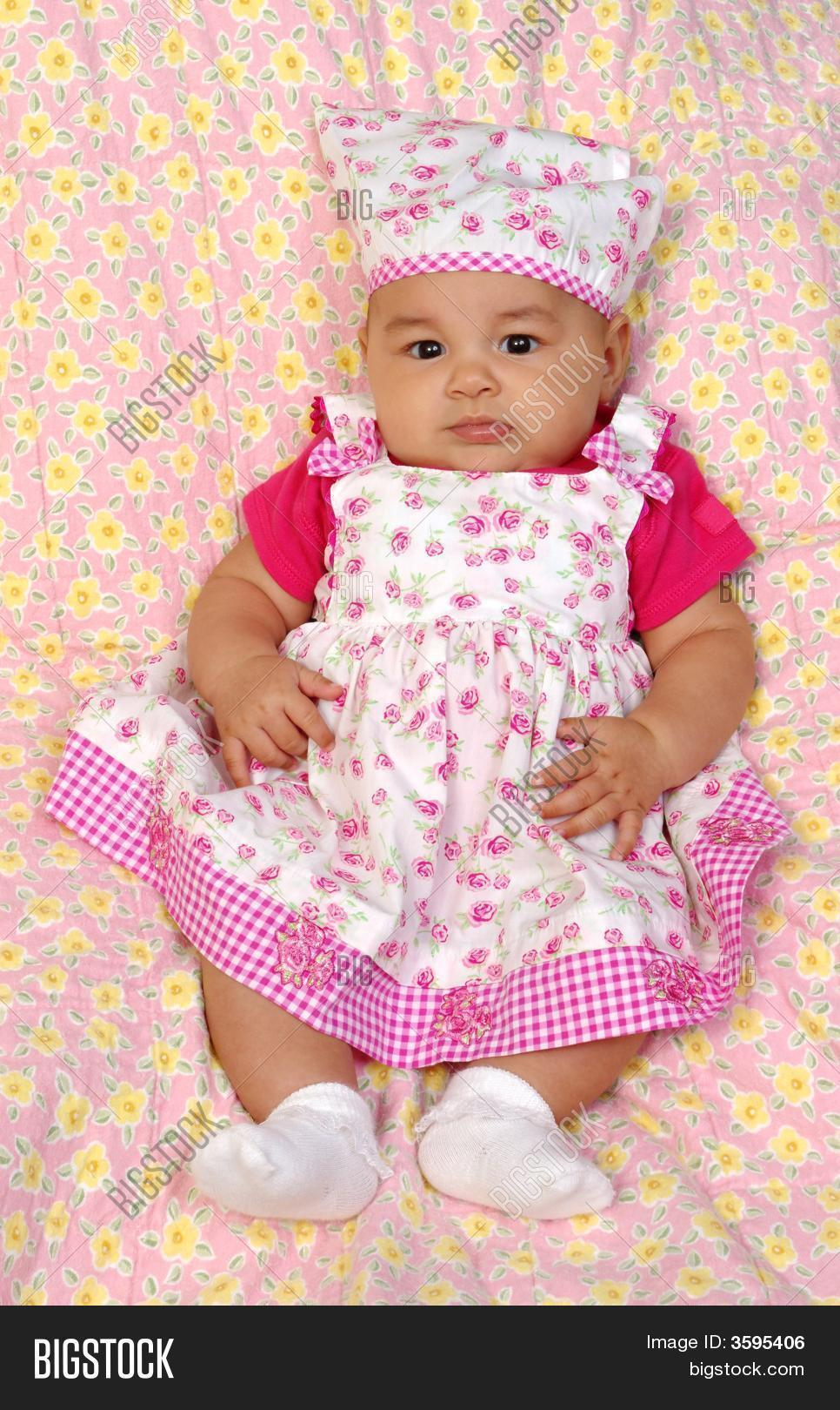 2ba41736a Cute Baby Girl Pink 3 Image   Photo (Free Trial)