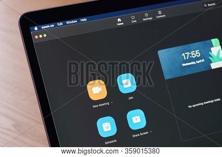 Zoom App Main Menu