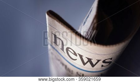 Newspaper headlines roll shown daily newspapers