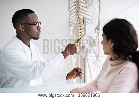 Chiropractor Doctor Consultation In Physiotherapy Clinic Or Hospital
