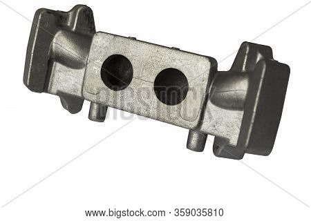 As Casted  Aluminium Gravity Die Casting Parts For Automotive ; Isolated White Background ; Clipping