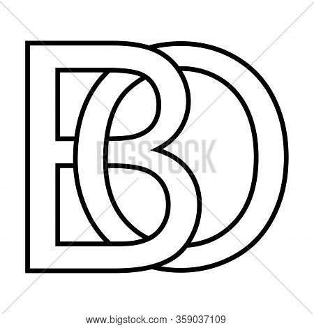 Logo Sign Bo, Ob Icon Sign Two Interlaced Letters B O Vector Logo Bo, Ob First Capital Letters Patte