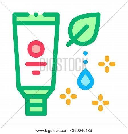 Nutritious Cream Icon Vector. Nutritious Cream Sign. Color Contour Symbol Illustration