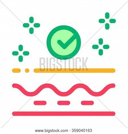 Skin Restoration Icon Vector. Skin Restoration Sign. Color Contour Symbol Illustration