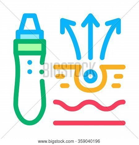 Roller Against Acne Icon Vector. Roller Against Acne Sign. Color Contour Symbol Illustration