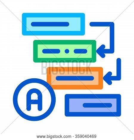 Graphical Automatic Algorithm Icon Vector. Graphical Automatic Algorithm Sign. Color Contour Symbol