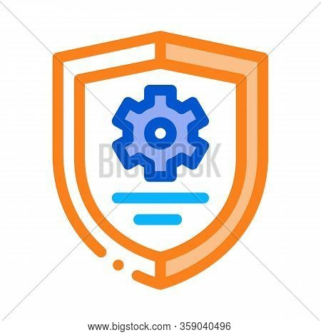 Cybersecurity Icon Vector. Cybersecurity Sign. Color Contour Symbol Illustration