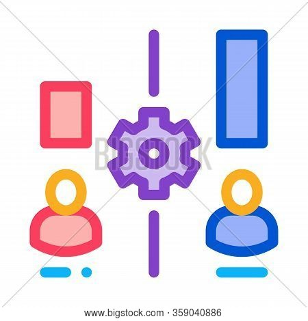 Different Resources Of People Icon Vector. Different Resources Of People Sign. Color Contour Symbol