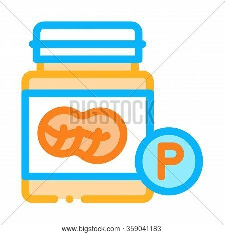 Bottle Of Fats Icon Vector. Bottle Of Fats Sign. Color Contour Symbol Illustration
