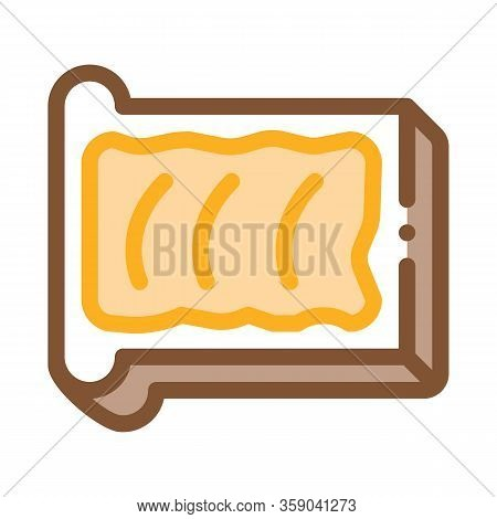 Toast With Butter Icon Vector. Toast With Butter Sign. Color Contour Symbol Illustration