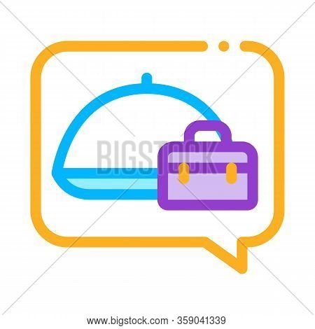 Business Lunch Icon Vector. Business Lunch Sign. Color Contour Symbol Illustration