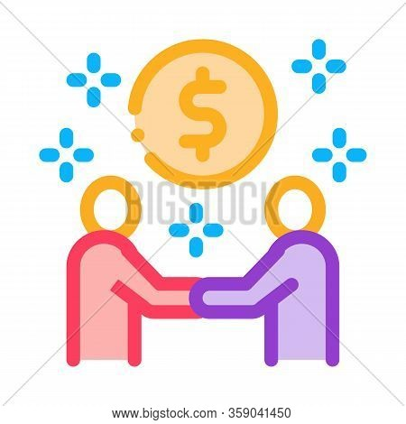 Money Making Deal Icon Vector. Money Making Deal Sign. Color Contour Symbol Illustration