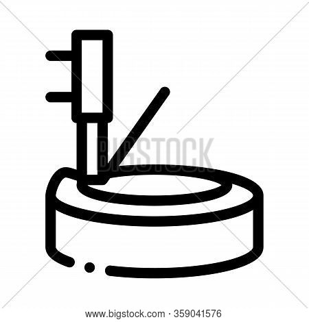 Tire And Jack Icon Vector. Tire And Jack Sign. Isolated Contour Symbol Illustration