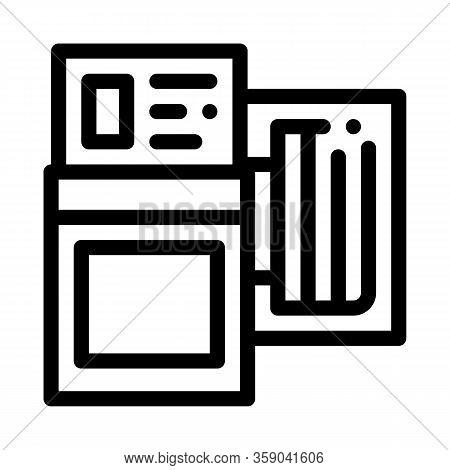 Tire Diagnostics Icon Vector. Tire Diagnostics Sign. Isolated Contour Symbol Illustration