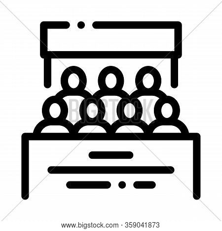 People Of Residential Buildings Icon Vector. People Of Residential Buildings Sign. Isolated Contour
