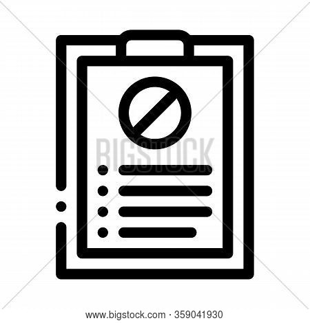 Written Protest Requests Icon Vector. Written Protest Requests Sign. Isolated Contour Symbol Illustr
