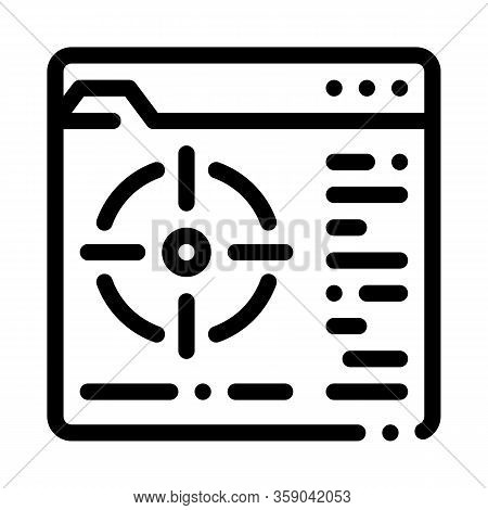 Target To Specific Folder Icon Vector. Target To Specific Folder Sign. Isolated Contour Symbol Illus