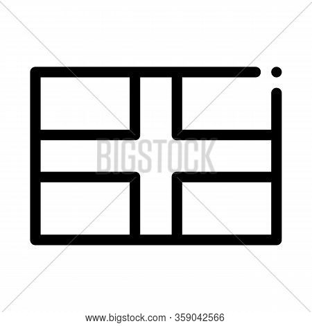 Flag Of The Great Britain Icon Vector. Flag Of The Great Britain Sign. Isolated Contour Symbol Illus